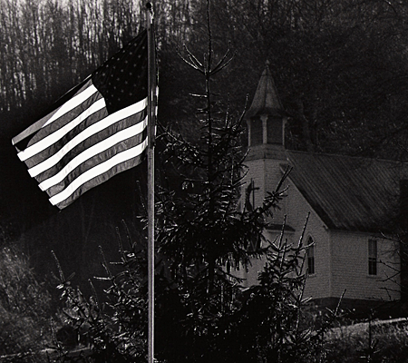 Flag and Church